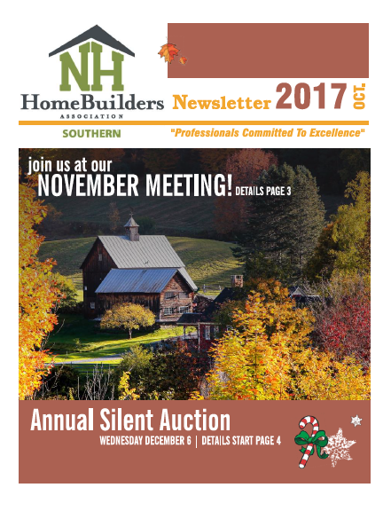 SNHHBRA October 2017 Newsletter
