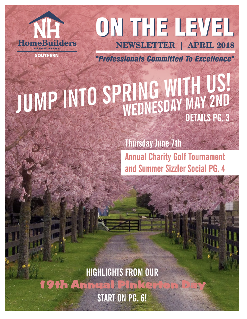 SNHHBRA Newsletter April 2018