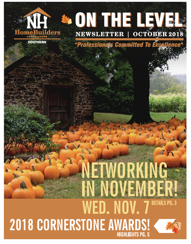 SNHHBRA October 2018 Newsletter